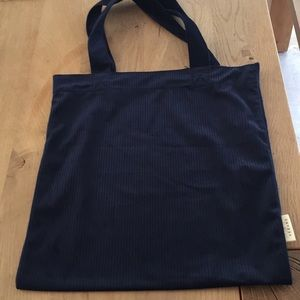 New sezane Velour tote, Navy